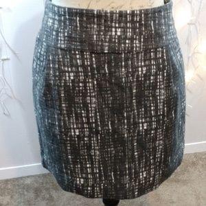 J Crew Gray and White Patterned Mini Skirt